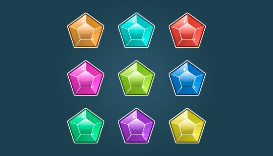 多彩的宝石矢量素材(EPS/PNG)