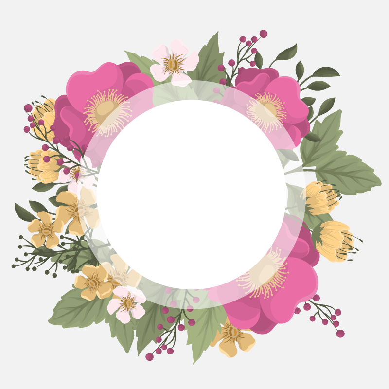漂亮的花环矢量素材(EPS)