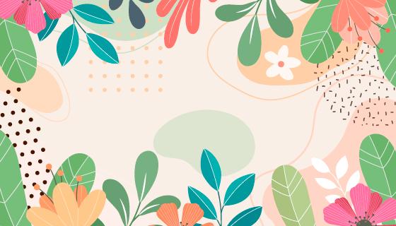 多彩花卉背景矢量素材(EPS)