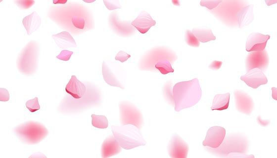逼真的樱花花瓣背景矢量素材(EPS)