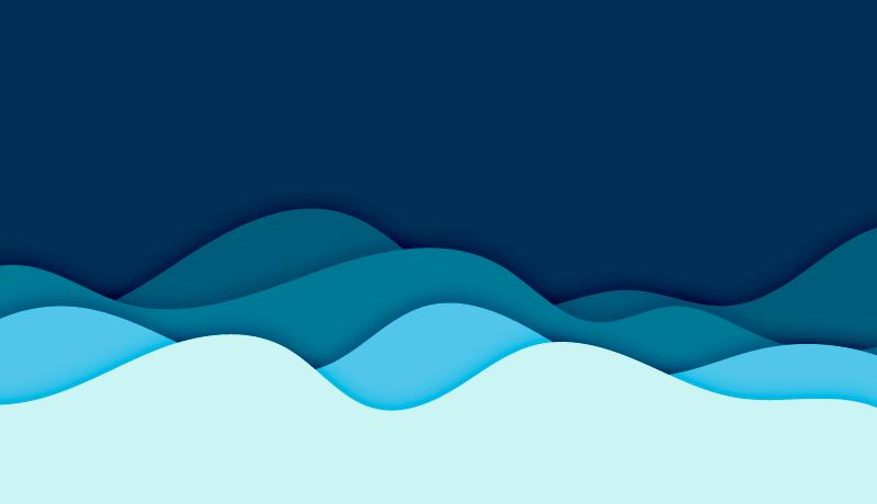 剪纸风格波浪背景矢量素材(EPS)