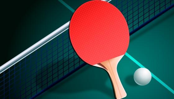 逼真的乒乓球和乒乓球拍矢量素材(AI/EPS)