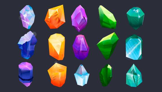 各种各样的宝石矢量素材(EPS)