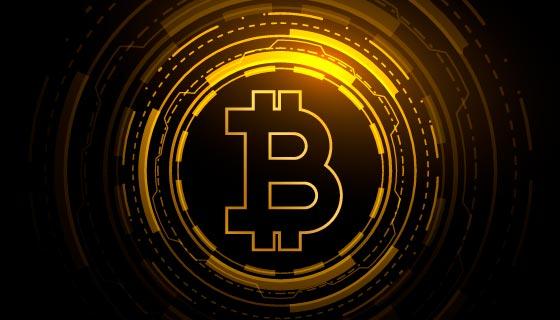 加密货币比特币区块链概念背景矢量素材(EPS)
