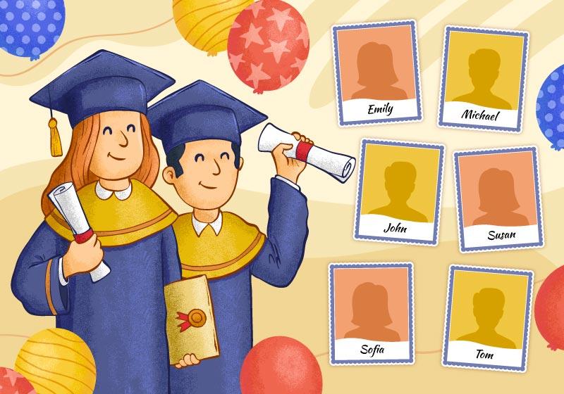学生们毕业典礼拍照矢量素材(AI/EPS)