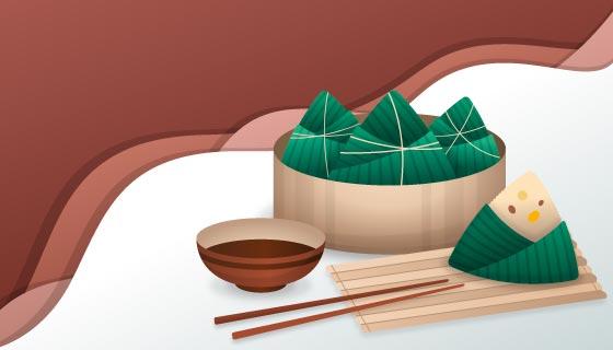 美味的端午节粽子矢量素材(AI/EPS)