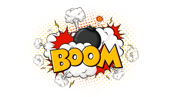 漫画风格炸弹爆炸矢量素材(EPS)