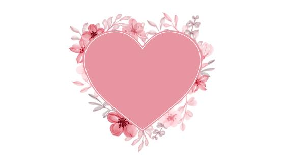 优雅的花卉爱心矢量素材(EPS)
