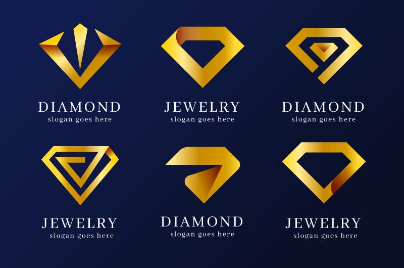 六个创意钻石logo矢量素材(AI/EPS/免扣PNG)