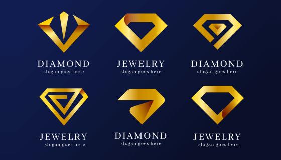 六个创意钻石logo矢量素材(AI/EPS/PNG)