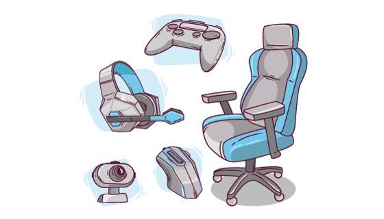 游戏电竞装备矢量素材(AI/EPS)