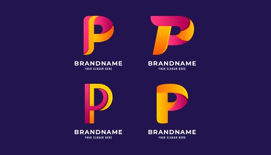 字母P设计的创意logo矢量素材(AI/EPS/PNG)