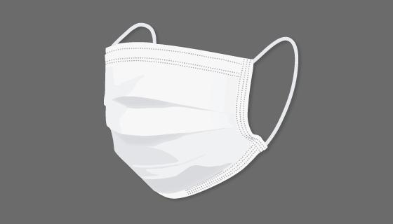 白色一次性口罩矢量素材(EPS/PNG)