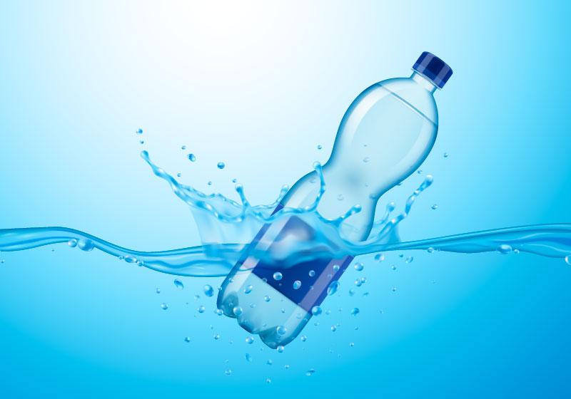 逼真的矿泉水广告设计矢量素材(EPS)