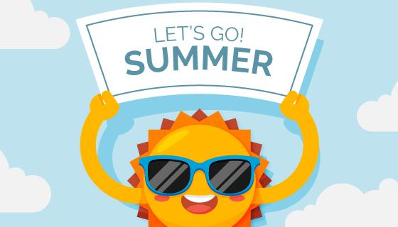 夏天带着墨镜的太阳矢量素材(AI/EPS)