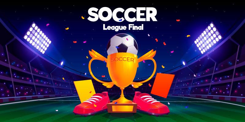 足球球鞋奖杯和足球场矢量素材(AI/EPS)