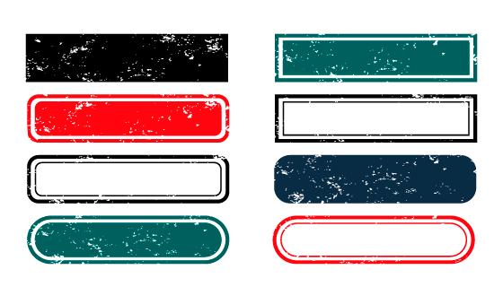 八个脏脏的标签/按钮矢量素材(EPS)