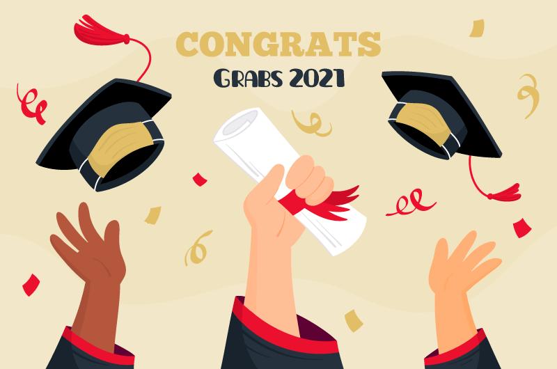 高举学士帽和毕业证书庆祝毕业矢量素材(AI/EPS)