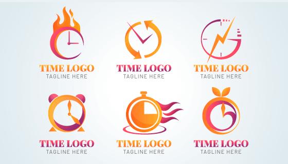 六个时间类logo矢量素材(AI/EPS/PNG)