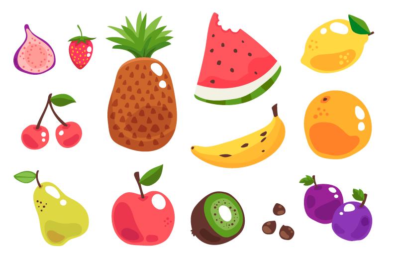 各种各样的水果矢量素材(AI/EPS)