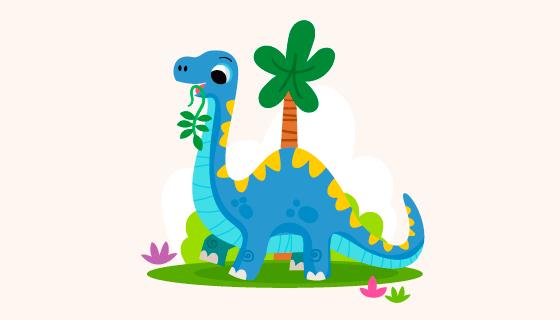 可爱的恐龙宝宝矢量素材(AI/EPS)
