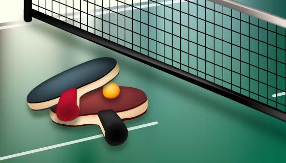 逼真的乒乓球矢量素材(AI/EPS)