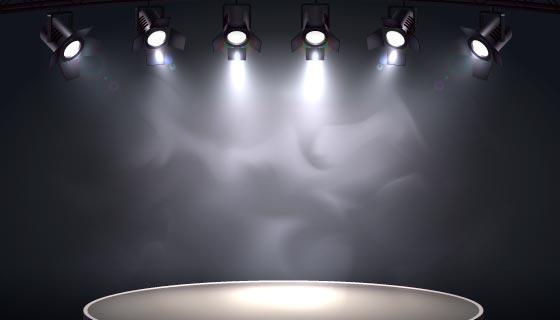 聚光灯和圆形舞台矢量素材(EPS)