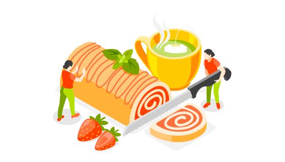 烘焙制作概念插画矢量素材(EPS)