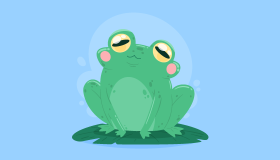 眯着眼睛的青蛙矢量素材(AI/EPS)