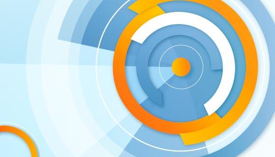 抽象圆环背景矢量素材(AI/EPS)