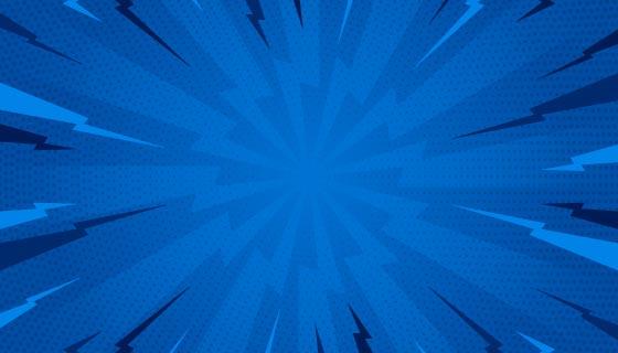 蓝色漫画爆炸背景矢量素材(AI/EPS)