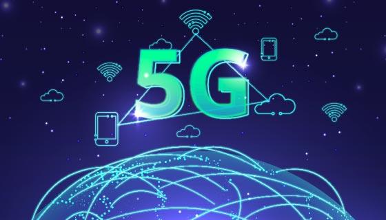 世界互联5G科技背景矢量素材(AI/EPS)