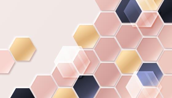渐变六边形背景矢量素材(AI/EPS)