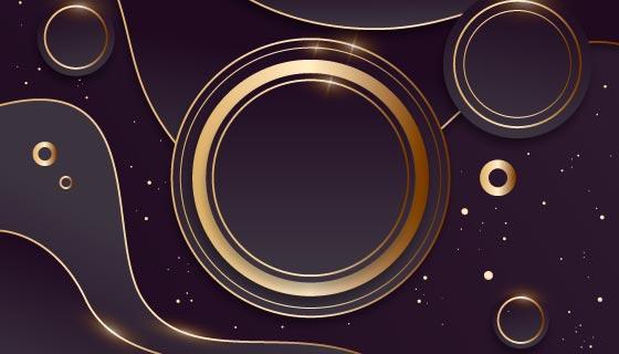 渐变的金色奢华背景矢量素材(AI/EPS)