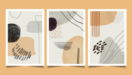 三张抽象封面矢量素材(AI/EPS)