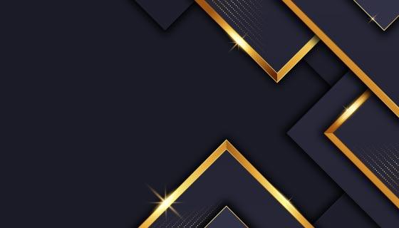 金色线条奢华背景矢量素材(AI/EPS)
