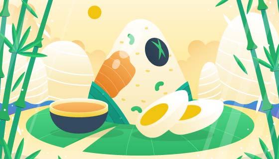 美味的端午节粽子背景矢量素材(AI/EPS)