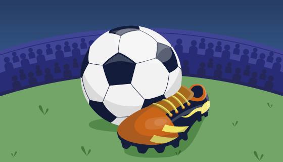 足球和球鞋矢量素材(AI/EPS)