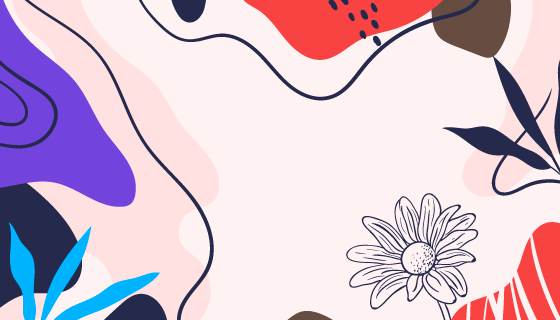 抽象花卉背景矢量素材(AI/EPS)
