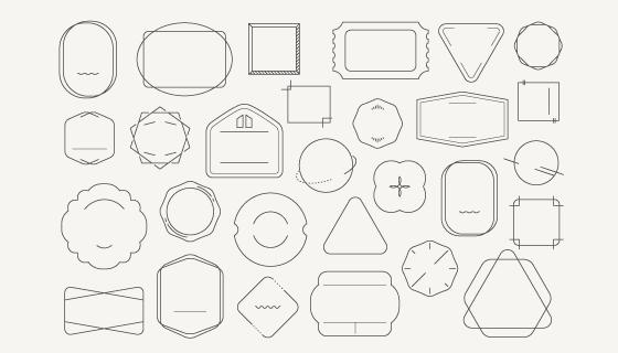 各种各样的徽章矢量素材(EPS)