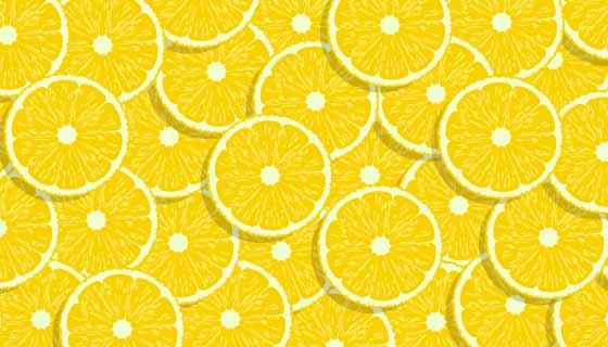 清爽柠檬背景矢量素材(EPS)