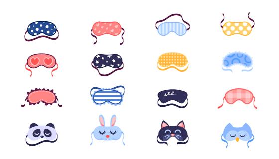 16个可爱的眼罩矢量素材(EPS/PNG)