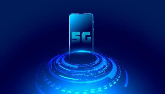 5G网络通信技术概念背景矢量素材(EPS)