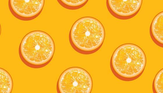 美味橙子背景矢量素材(EPS)