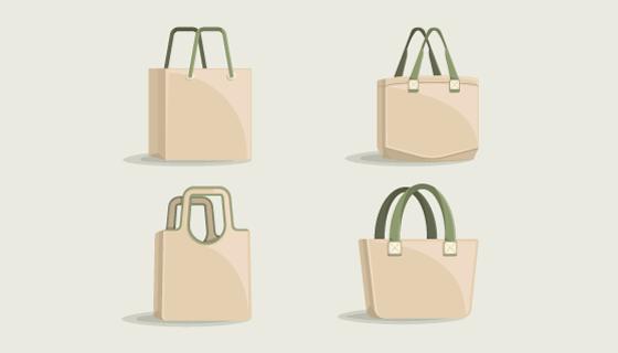 手提袋/手提包平面设计矢量素材(AI/EPS)