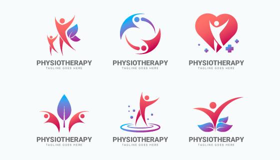 六个物理疗法logo设计矢量素材(AI/EPS/PNG)
