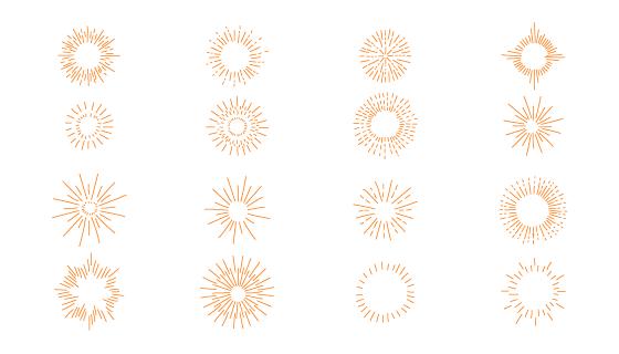 16个简单的手绘太阳矢量素材(AI/EPS)