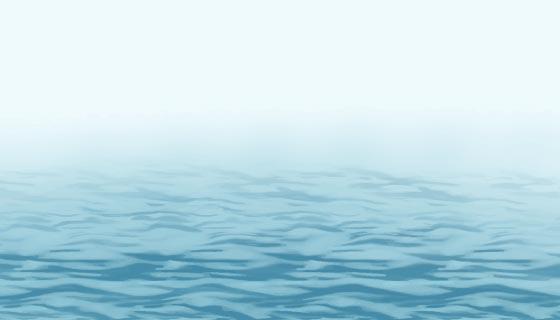 逼真的迷雾海平面背景矢量素材(EPS)