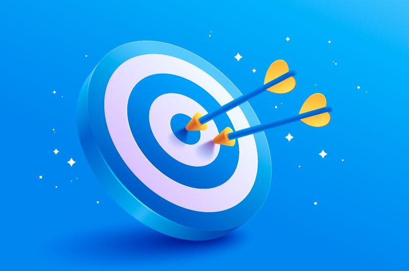 卡通风格的箭矢和靶矢量素材(AI/EPS)