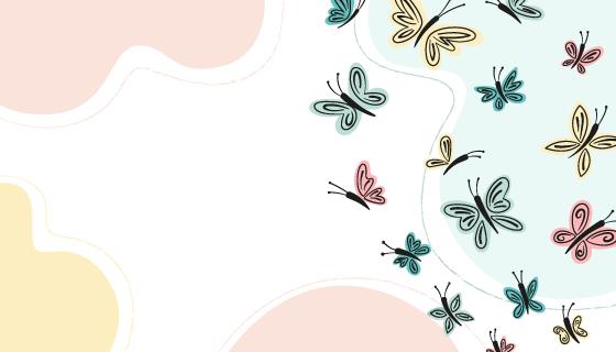 多彩蝴蝶轮廓背景矢量素材(AI/EPS)